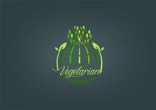 Globaal vegetarisch symboolontwerp Stock Fotografie
