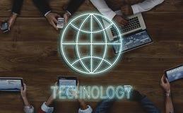 Globaal Verbindings Communicatie Voorzien van een netwerk Grafisch Concept royalty-vrije stock foto's