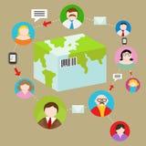 Globaal Verzendings Volgend Systeem Royalty-vrije Stock Afbeelding