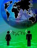Globaal voorzien van een netwerk   Stock Foto