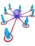 Globaal voorzien van een netwerk Stock Foto's