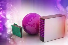 Globaal voorzien van een netwerkconcept Stock Fotografie