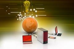 Globaal voorzien van een netwerkconcept Stock Afbeeldingen