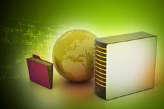Globaal voorzien van een netwerkconcept Stock Foto's