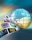 Globaal wetenschappelijk onderzoek Stock Afbeelding
