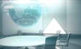 Globaal zaken en infograph concept Stock Foto's
