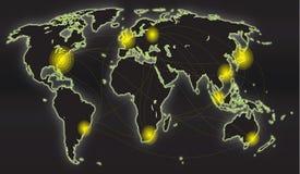 Global översikt Arkivbild