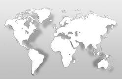 Global översikt för världskarta Royaltyfri Foto