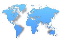 Global översikt för världskarta Arkivbilder