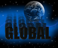 Global 3D Royalty Free Stock Image