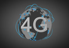 Global 4g network Royalty Free Stock Image