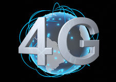 Global 4g network Stock Photo