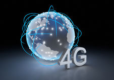 Global 4g network Royalty Free Stock Photos