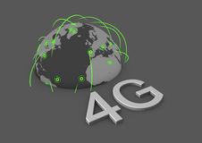 Global 4g network. Concept for a global 4g network Royalty Free Stock Photos