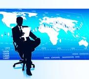 Global affär Arkivbild