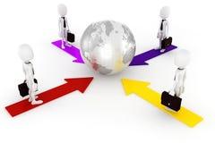 global affärsidé för man 3d Arkivbilder