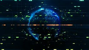 global affärsidé Växande globalt nätverk, global kommunikation Födelsen och tillväxten av ett nätverk av anslutningar lager videofilmer