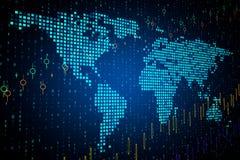 Global aff?r och att investera begrepp stock illustrationer