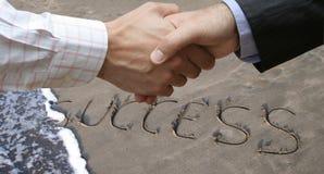 Global agreement. In the beach Stock Photos