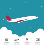 Global Airline Infographic with cloud Royalty Free Stock Photography
