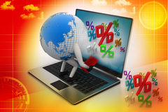 Global analysing. In attractive color background Stock Photo