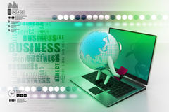 Global analysing. In color background Royalty Free Stock Photos