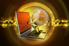Global analysing. In color background Stock Images