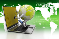 Global analysing. In color background Royalty Free Stock Image
