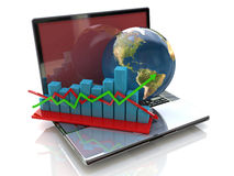 Global analysis in business vector illustration