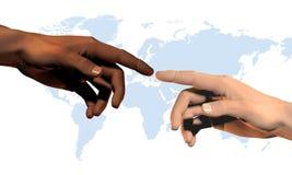 global anslutning Arkivbilder