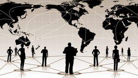 Global anslutning av det sociala affärsnätverket för folk royaltyfri illustrationer