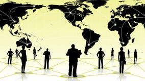 Global anslutning av det sociala affärsnätverket för folk Arkivfoton