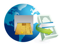 Global atm illustration design graphic Royalty Free Stock Images