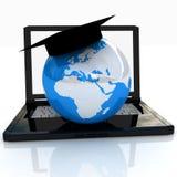 Global auf Zeile Ausbildung Stockbild
