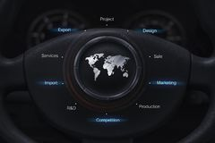 Global car industry Royalty Free Stock Photo