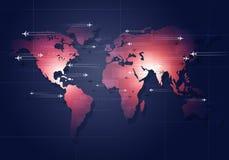 Global Aviation affärsbakgrund Royaltyfria Bilder