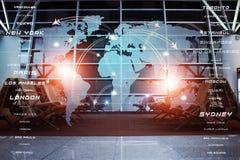 Global Aviation affärsbakgrund Fotografering för Bildbyråer
