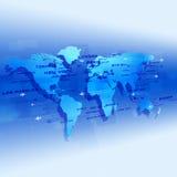Global Aviation błękita tło Zdjęcia Stock