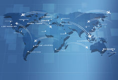 Global Aviation Map Stock Photo