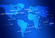 Global Aviation riktningar Royaltyfri Bild