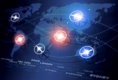 Global Aviation riktningar royaltyfri illustrationer