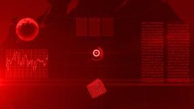 global bakgrundsaffärsfinans Rött royaltyfri illustrationer