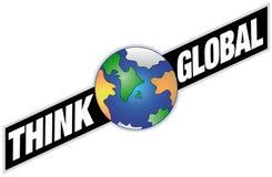 Global - bandera con tierra Imagen de archivo