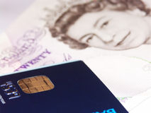 Global banking #2. Pound sterling and smart card Stock Images