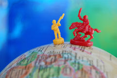 Global Battle Toy Soldiers Stock Image