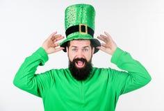 Global beröm av irländsk kultur Ferie för helgonPatricks dag Del för grön färg av beröm Myt av trollet arkivbild