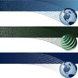 Global & Binary Background Stock Images