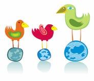 Global birds vector illustration