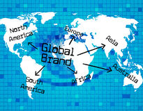 Global Brand Represents Globally Globalization And Globalise. Global Brand Indicating Worldly Globalise And World vector illustration