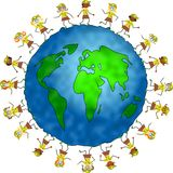 Global brownie kids Royalty Free Stock Images